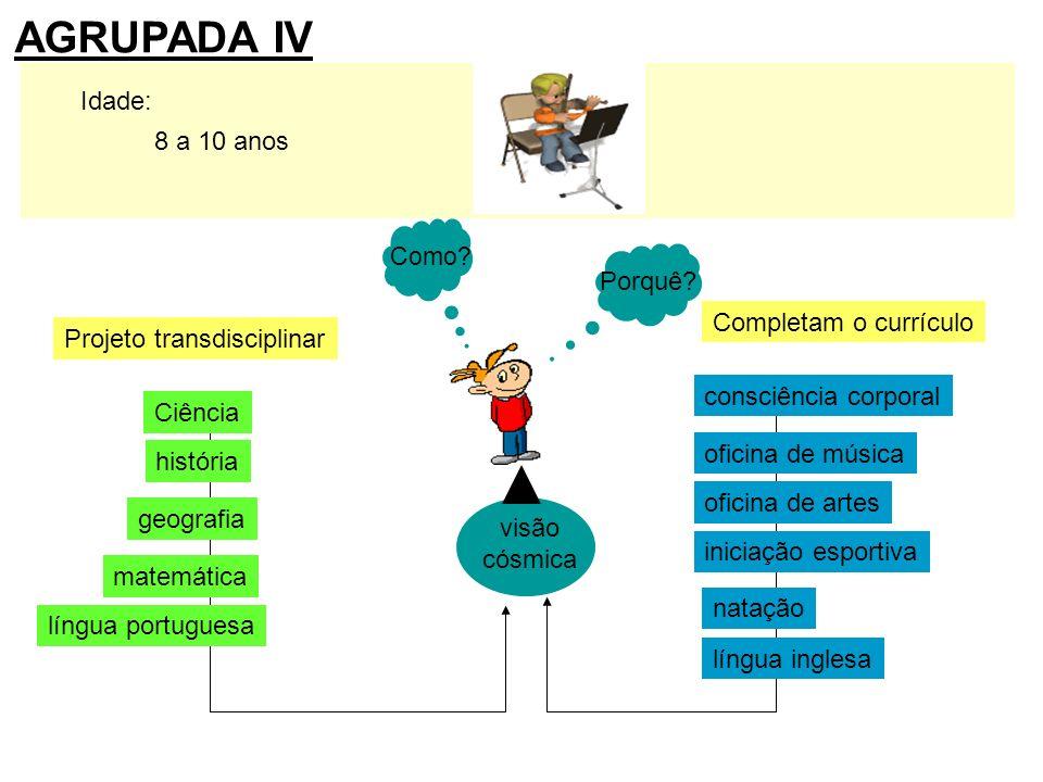 AGRUPADA IV Idade: 8 a 10 anos Porquê Completam o currículo