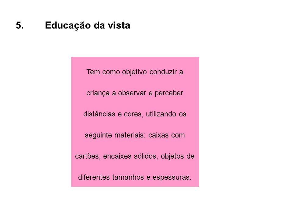 5. Educação da vista
