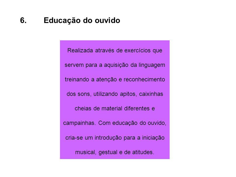 6. Educação do ouvido