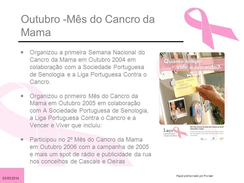 Outubro -Mês do Cancro da Mama