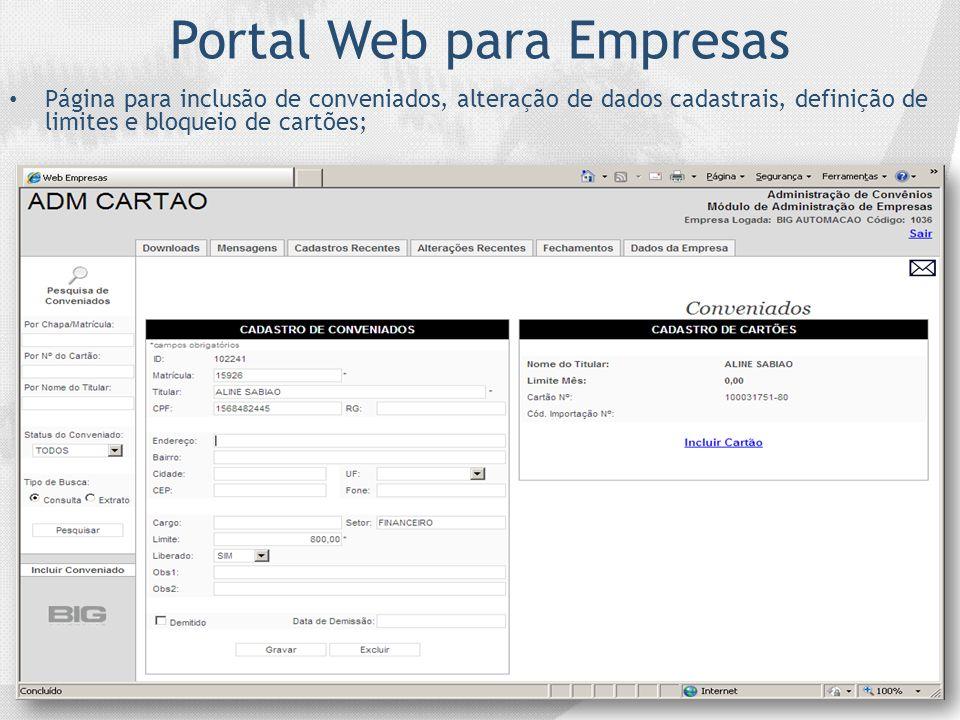 Portal Web para Empresas
