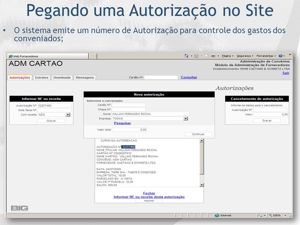 Pegando uma Autorização no Site