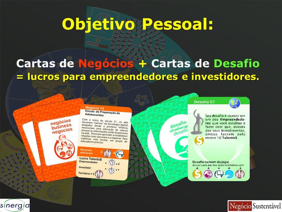 Objetivo Pessoal: Cartas de Negócios + Cartas de Desafio
