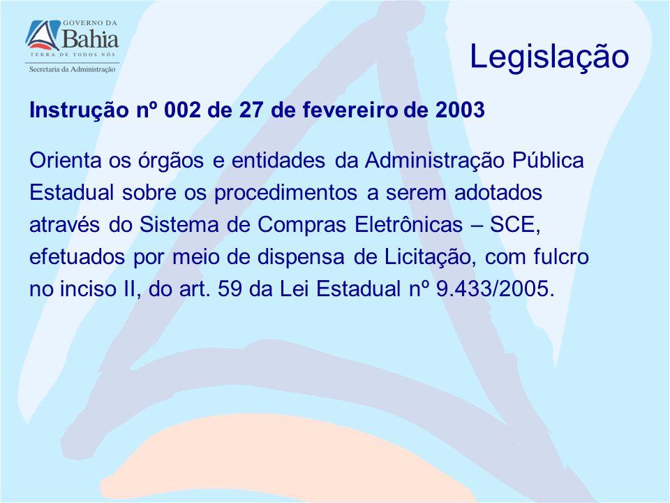 Legislação Instrução nº 002 de 27 de fevereiro de 2003