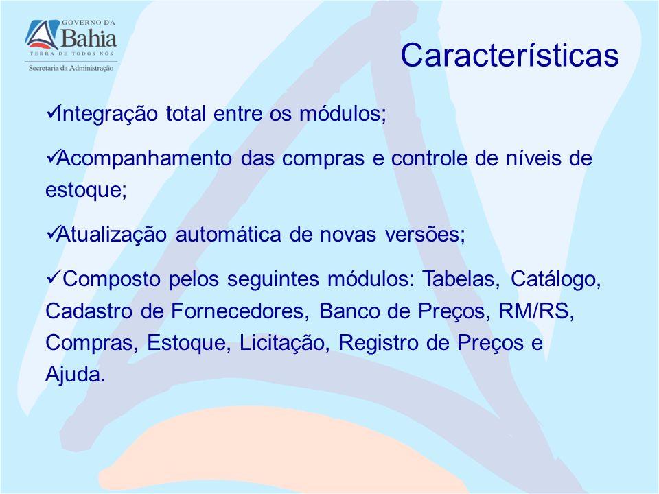 Características Integração total entre os módulos;