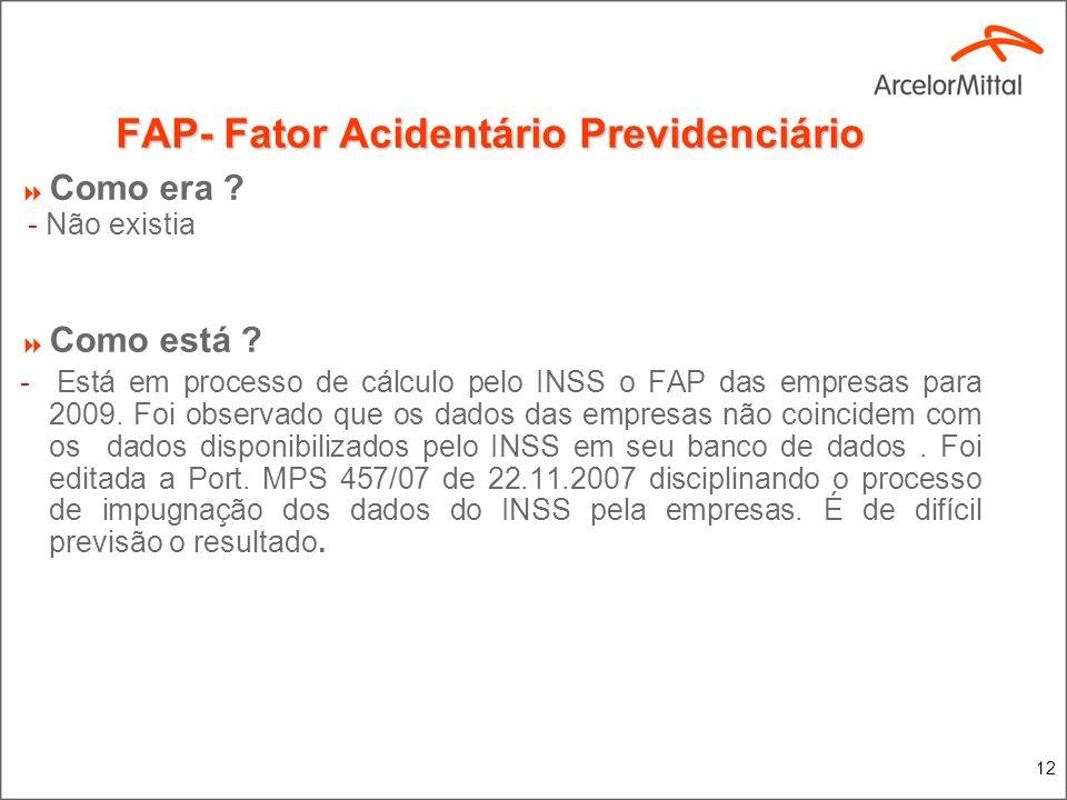 FAP- Fator Acidentário Previdenciário