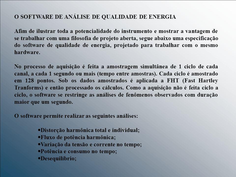 O SOFTWARE DE ANÁLISE DE QUALIDADE DE ENERGIA