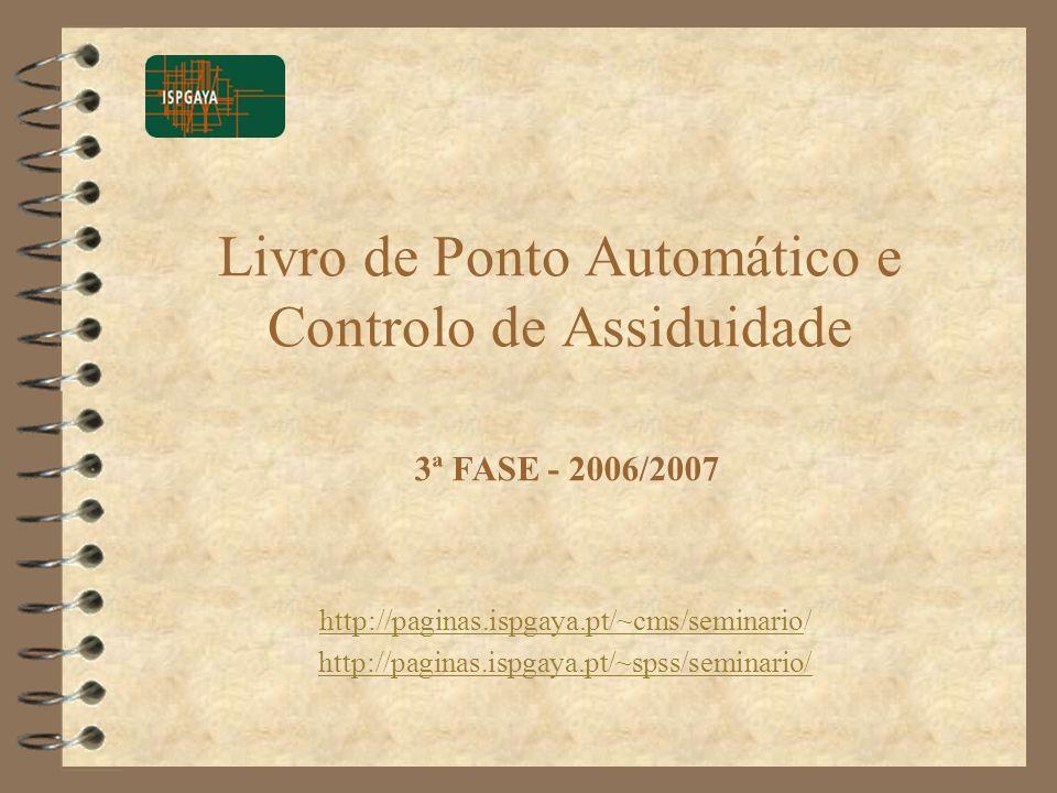 Livro de Ponto Automático e Controlo de Assiduidade