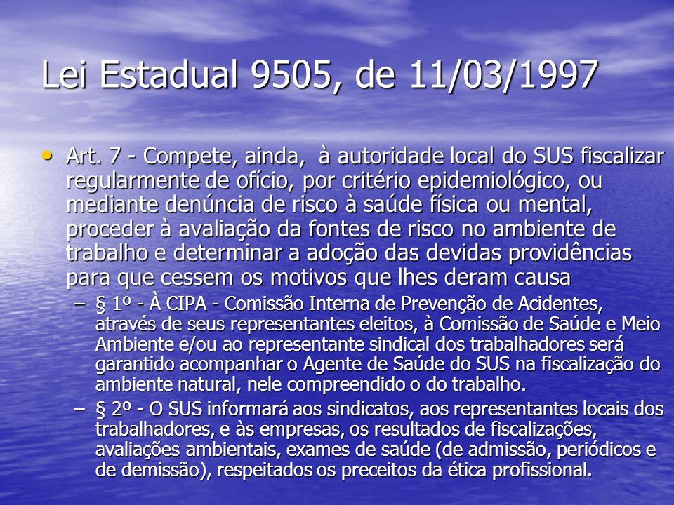 Lei Estadual 9505, de 11/03/1997