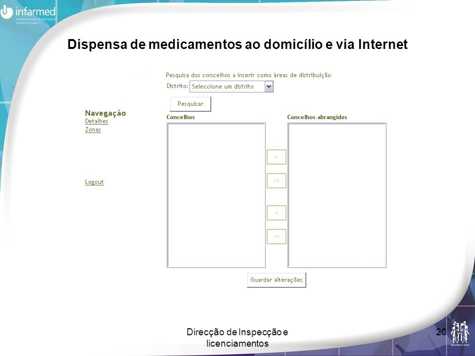 Dispensa de medicamentos ao domicílio e via Internet
