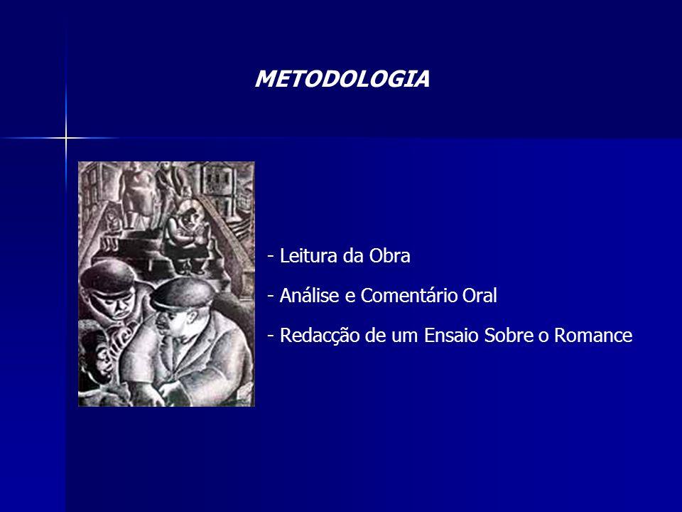 METODOLOGIA Leitura da Obra Análise e Comentário Oral