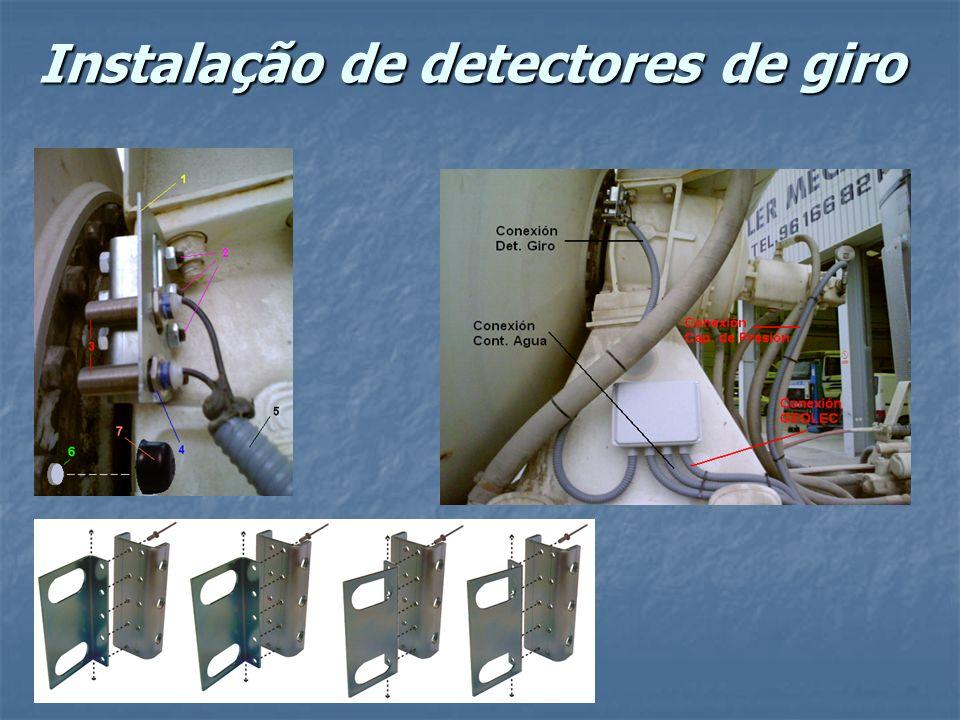 Instalação de detectores de giro
