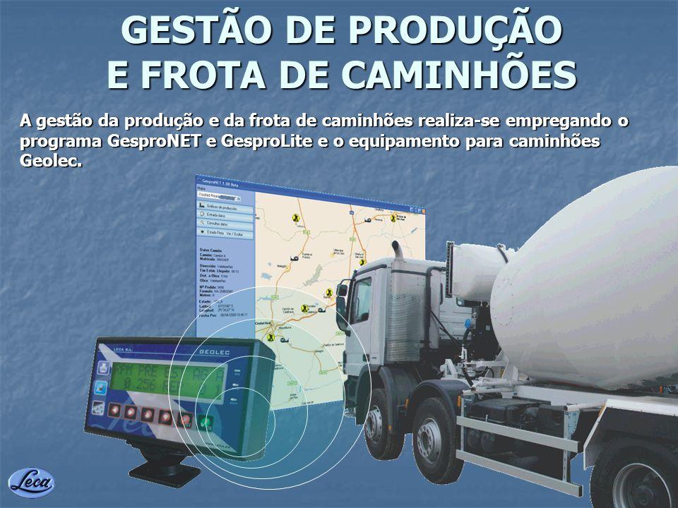 GESTÃO DE PRODUÇÃO E FROTA DE CAMINHÕES