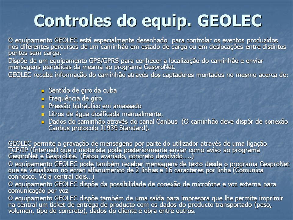 Controles do equip. GEOLEC