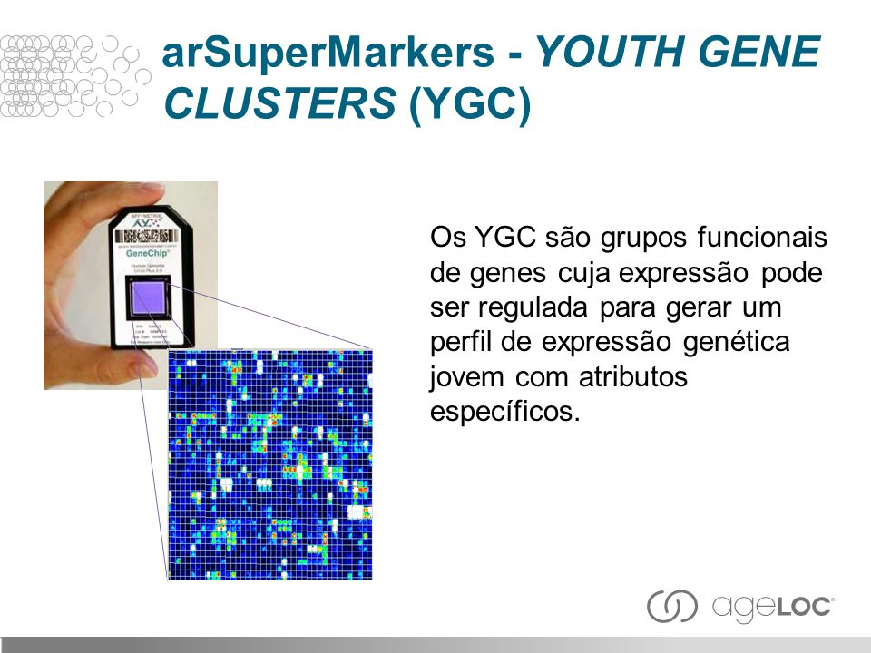 arSuperMarkers - YOUTH GENE CLUSTERS (YGC)