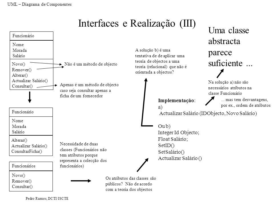 Interfaces e Realização (III)