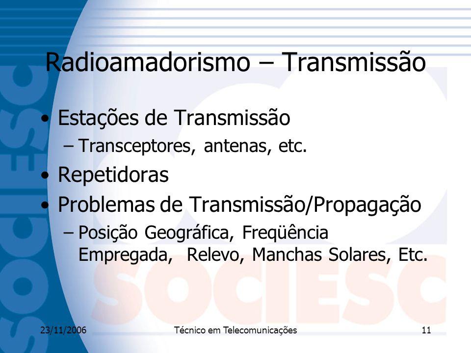 Radioamadorismo – Transmissão