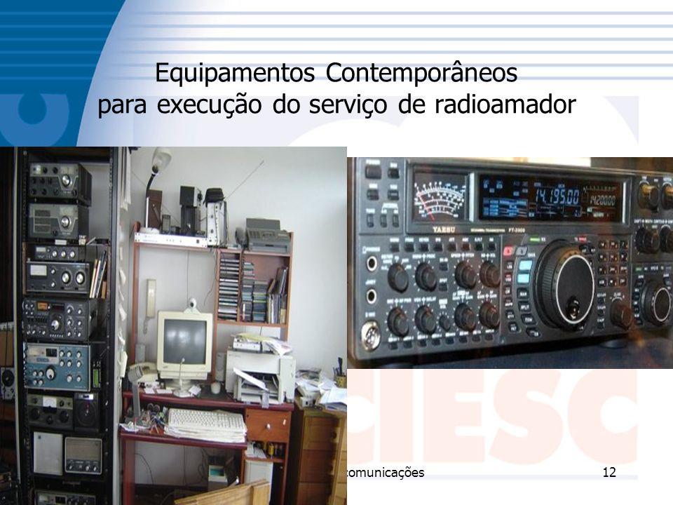 Equipamentos Contemporâneos para execução do serviço de radioamador