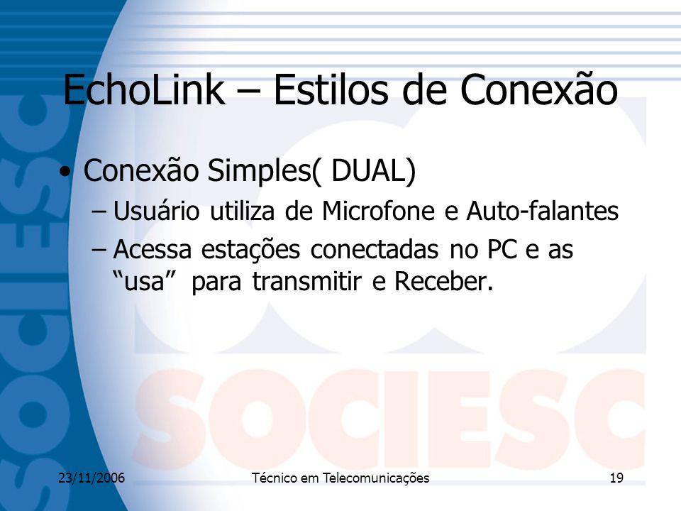 EchoLink – Estilos de Conexão