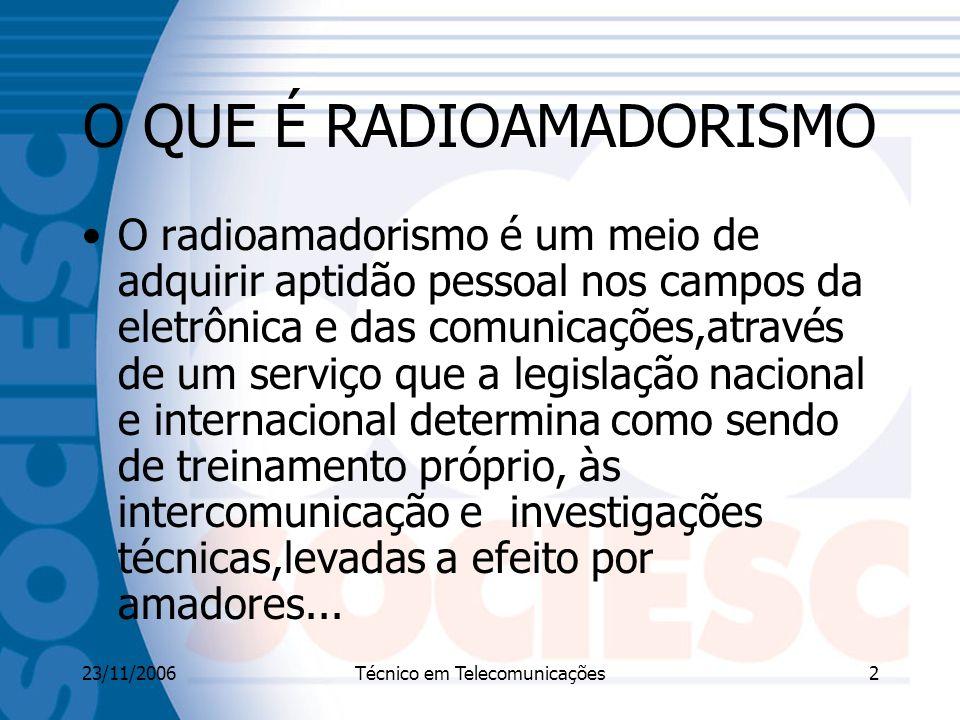 O QUE É RADIOAMADORISMO