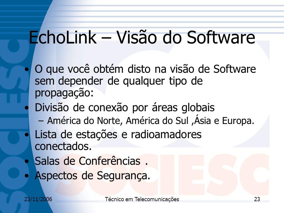 EchoLink – Visão do Software