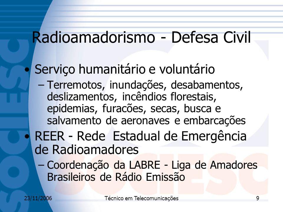 Radioamadorismo - Defesa Civil