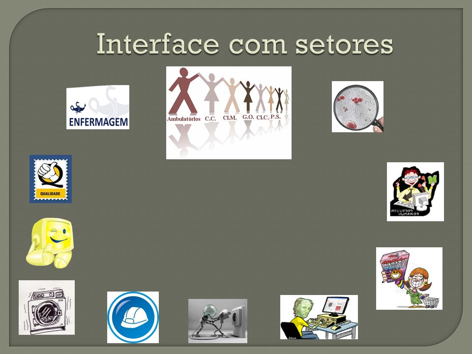 Interface com setores