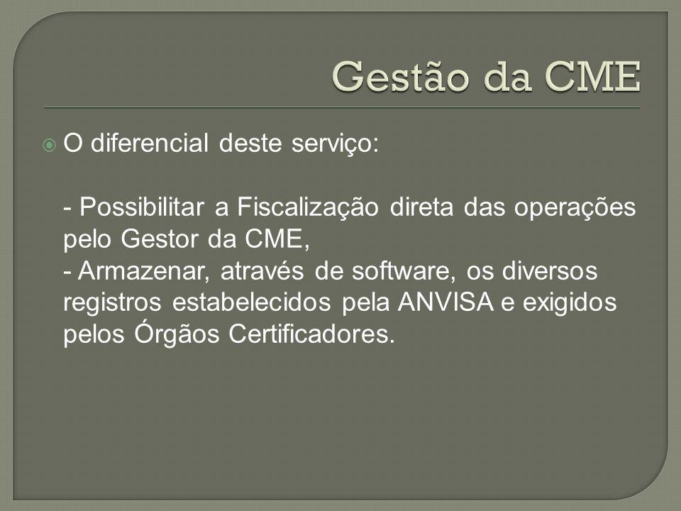 Gestão da CME O diferencial deste serviço: