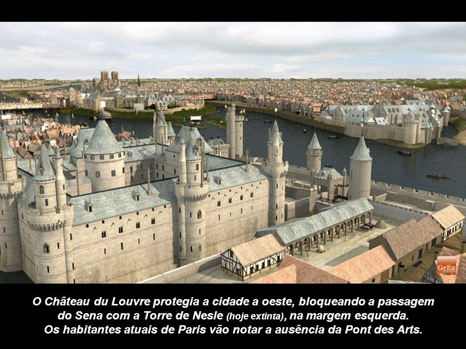 O Château du Louvre protegia a cidade a oeste, bloqueando a passagem