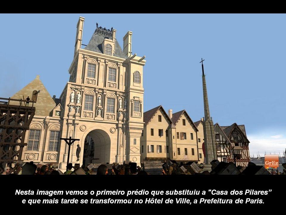 Nesta imagem vemos o primeiro prédio que substituiu a Casa dos Pilares