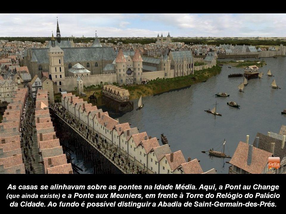 As casas se alinhavam sobre as pontes na Idade Média