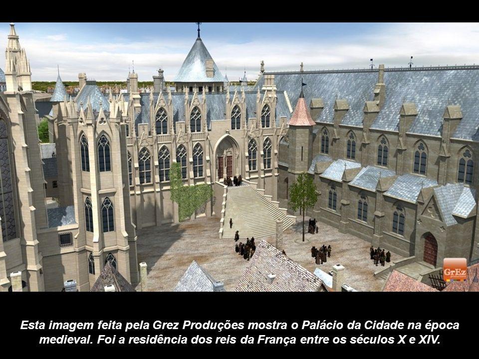 Esta imagem feita pela Grez Produções mostra o Palácio da Cidade na época medieval.