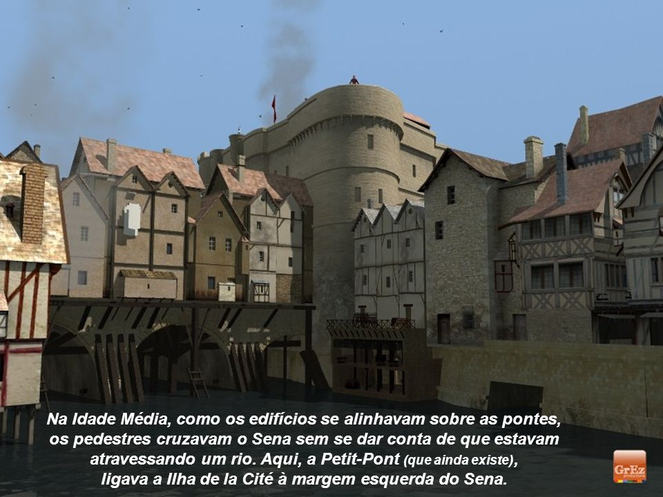 Na Idade Média, como os edifícios se alinhavam sobre as pontes,