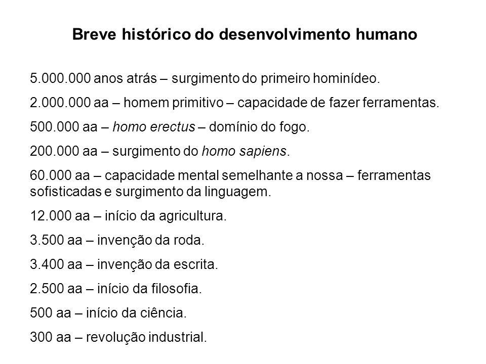 Breve histórico do desenvolvimento humano