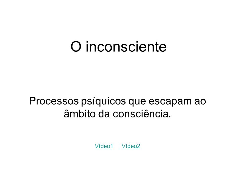 Processos psíquicos que escapam ao âmbito da consciência.