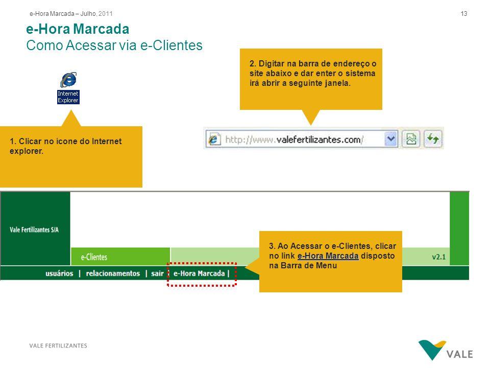 e-Hora Marcada Autorização de acesso ao e-HM no e-Clientes