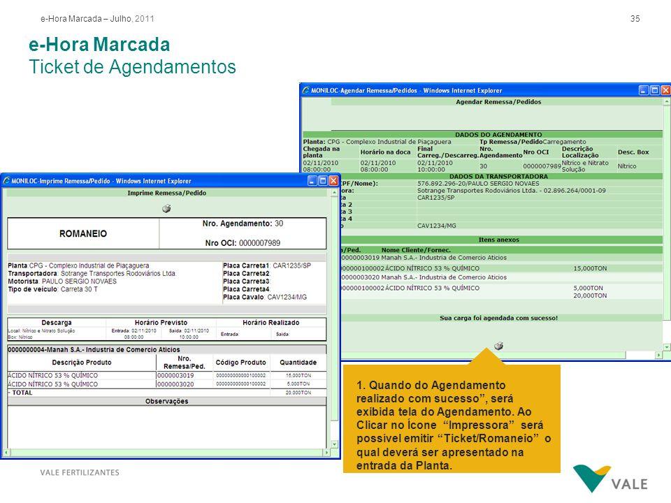 e-Hora Marcada Re-impressão Ticket de Agendamentos