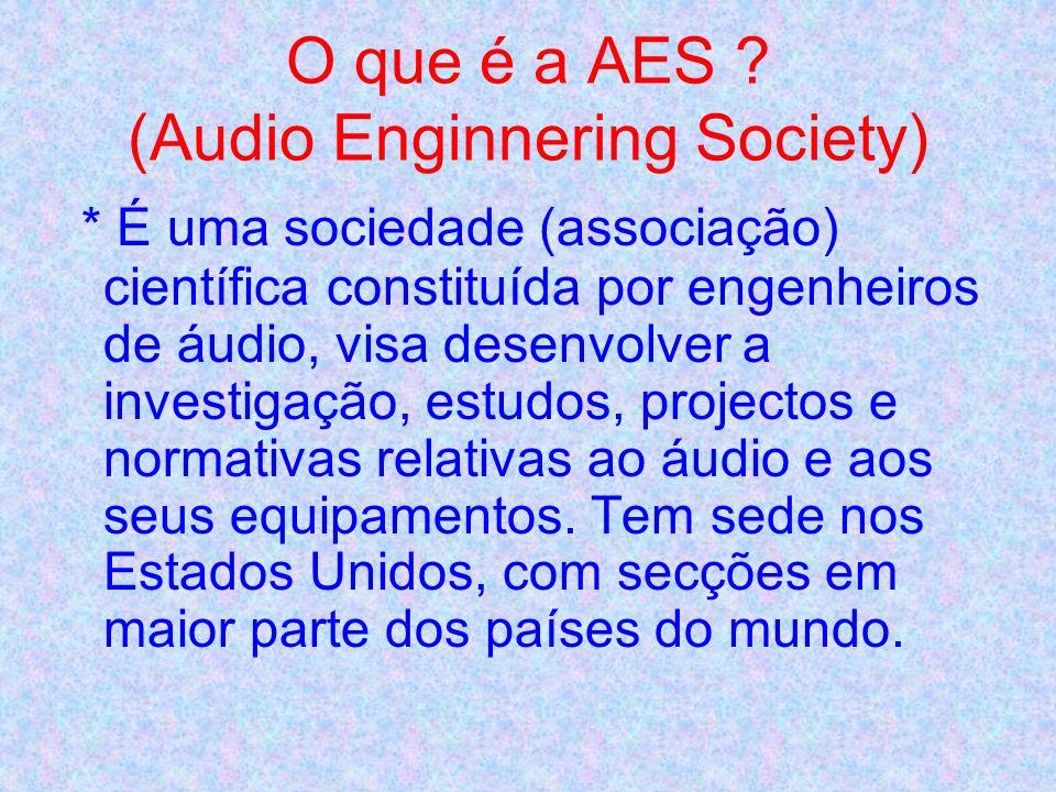 O que é a AES (Audio Enginnering Society)