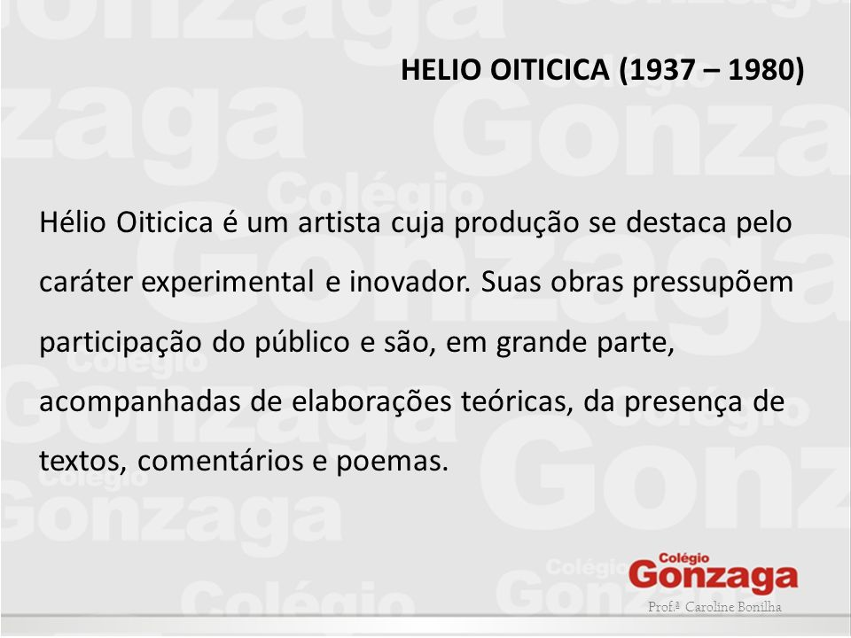 HELIO OITICICA (1937 – 1980)