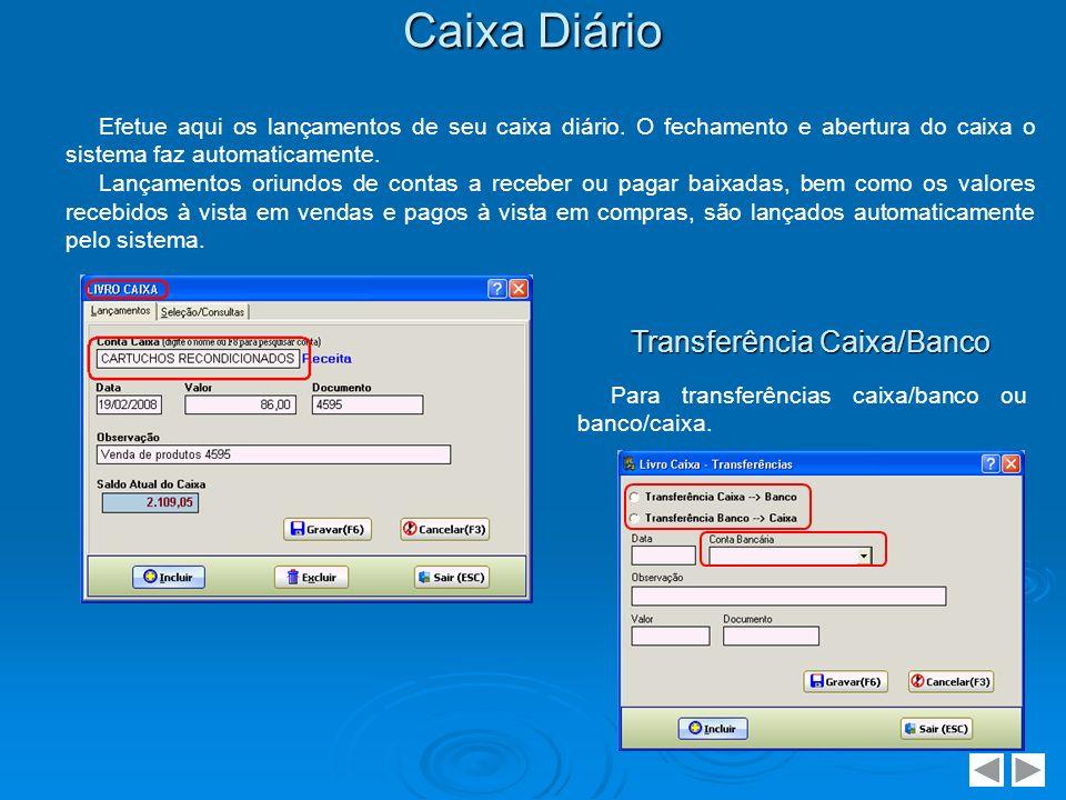 Transferência Caixa/Banco