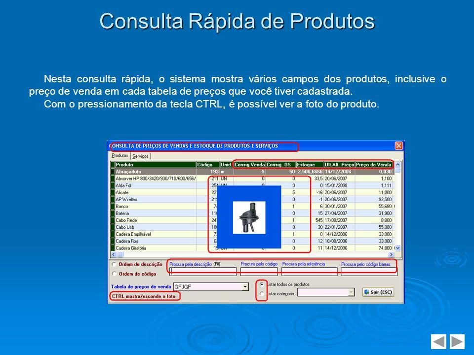 Consulta Rápida de Produtos
