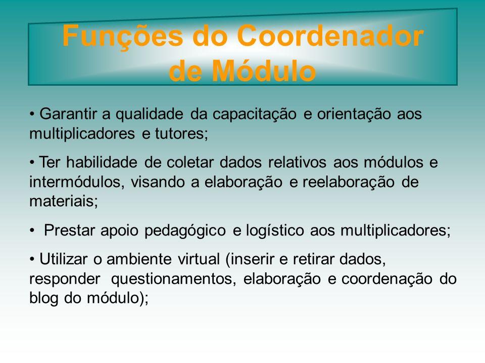 Funções do Coordenador de Módulo