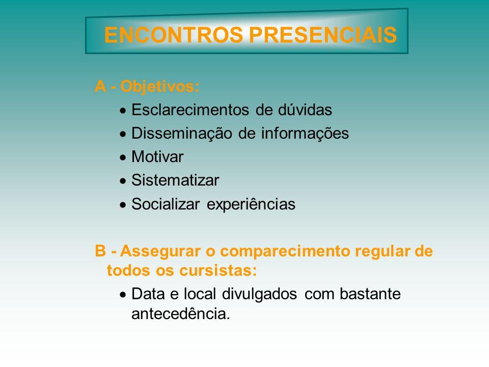 ENCONTROS PRESENCIAIS