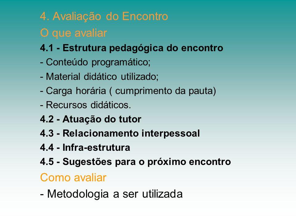 - Metodologia a ser utilizada