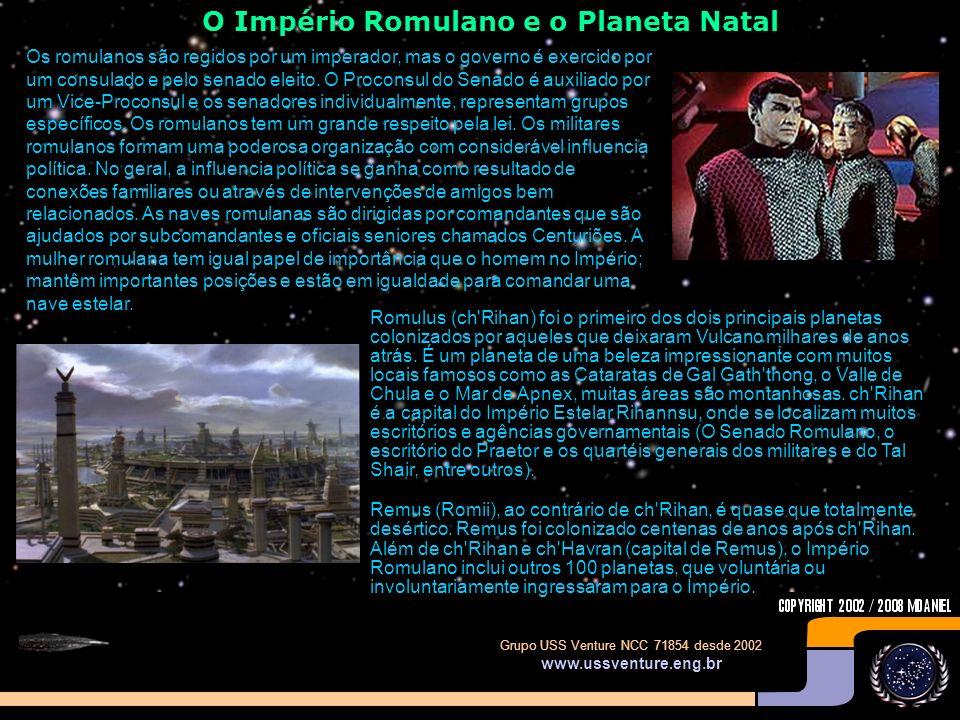 O Império Romulano e o Planeta Natal