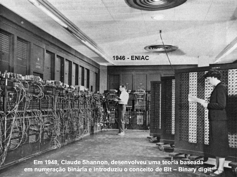 Em 1948, Claude Shannon, desenvolveu uma teoria baseada