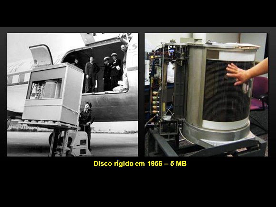 Disco rígido em 1956 – 5 MB