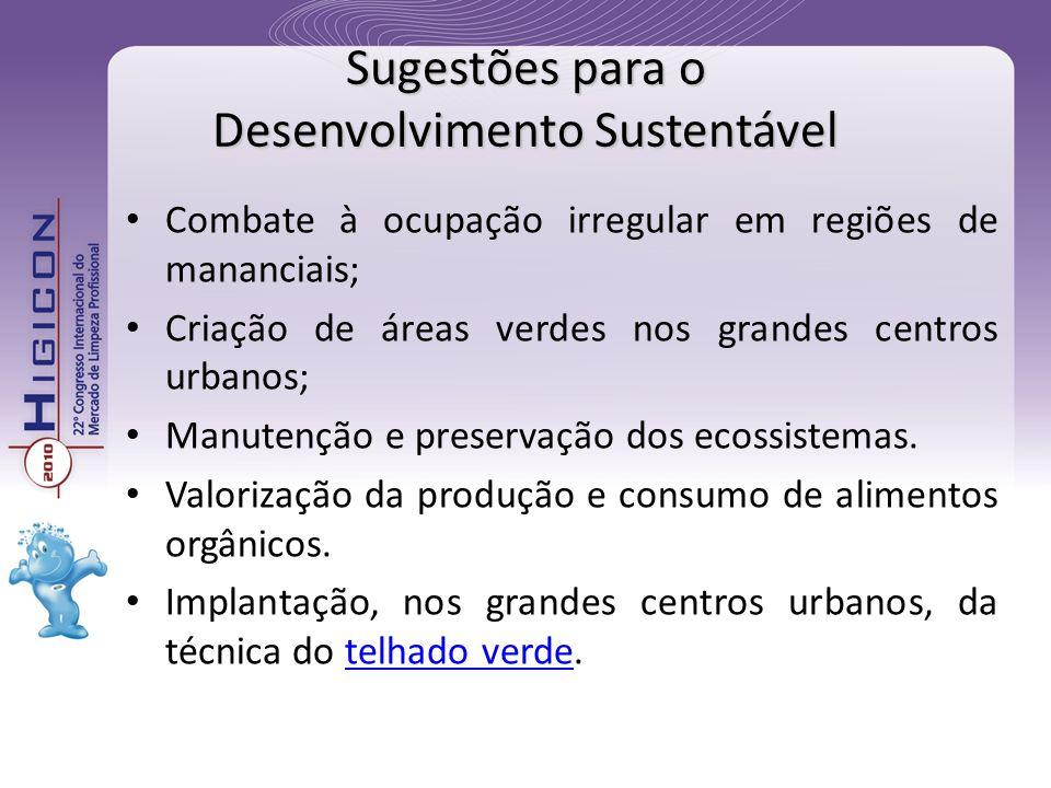 Sugestões para o Desenvolvimento Sustentável