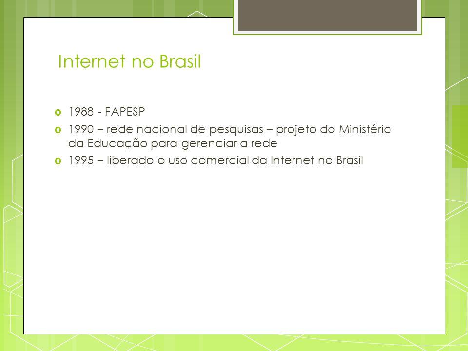 Internet no Brasil 1988 - FAPESP