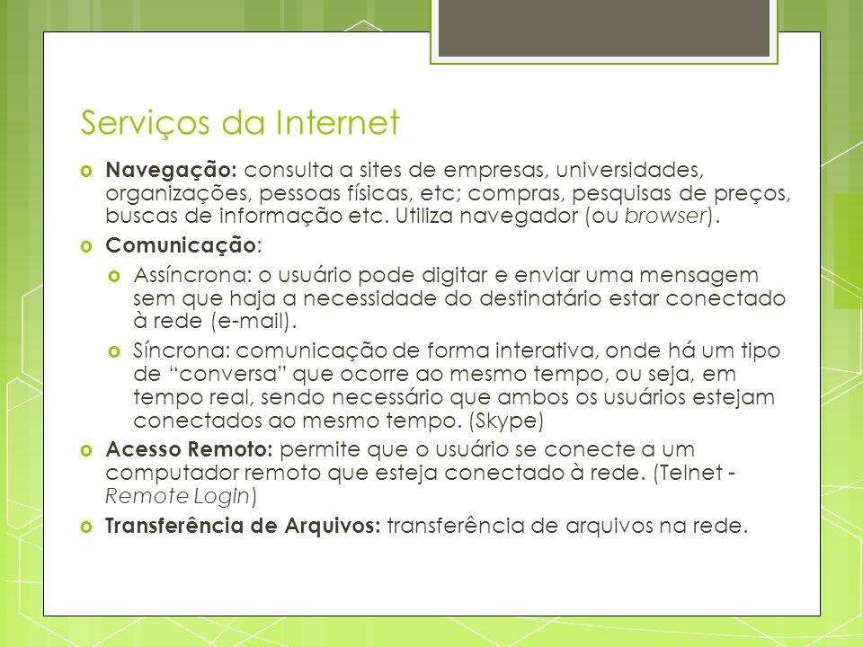 Serviços da Internet